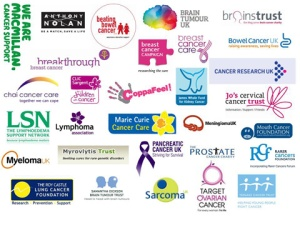 Cancer charity logos