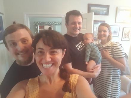 Selfie: George, Mariacristina, Tim, Aldous and Cassie