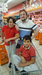 George with his nephews Salvatore and Samuele (the latter in a trolley)