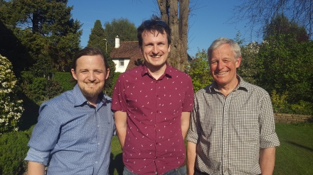 George, his stem cell donor Tim, and George's father Andrew
